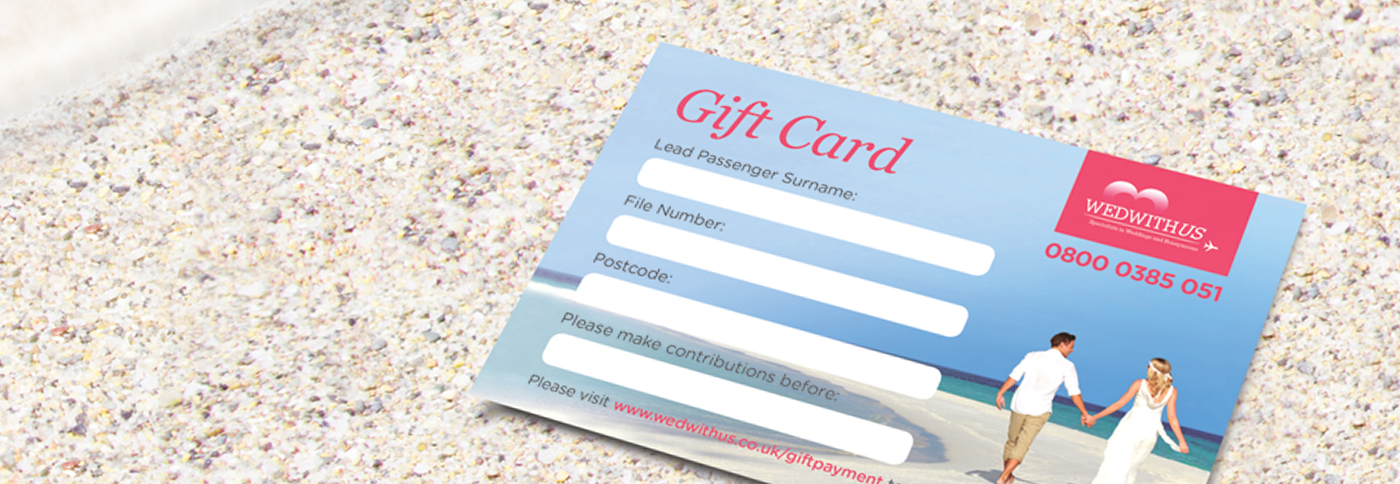 Wed With Us gift card