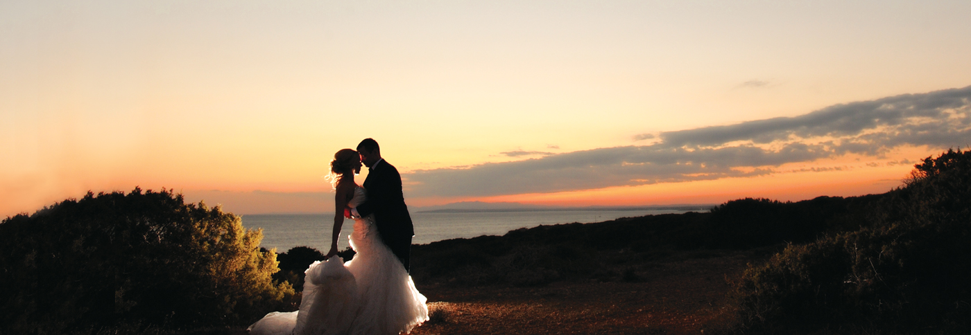 Married couple with Cyprus backdrop
