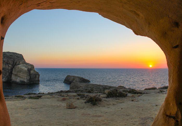 View of beach in Malta