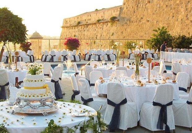 Malta wedding reception
