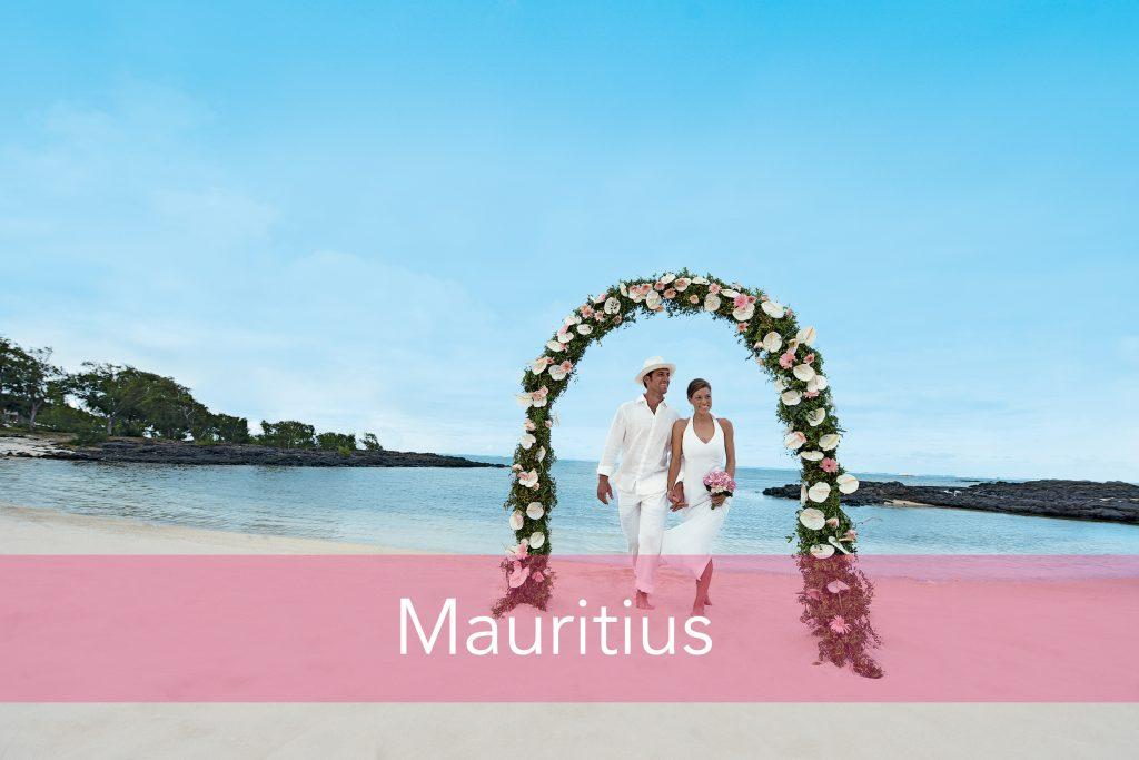 Beach wedding in Mauritius