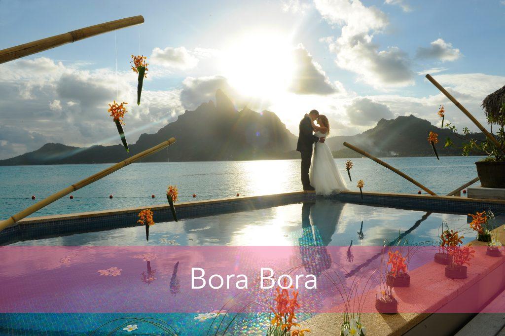 Wedding couple in Bora Bora